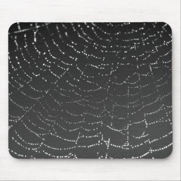 Halloween Themed Sparkling Spiderweb Mouse Pad