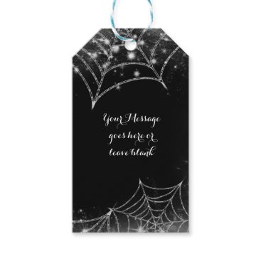 Halloween Themed Sparkling Spiderwebs Halloween Party Favor Gift Tags