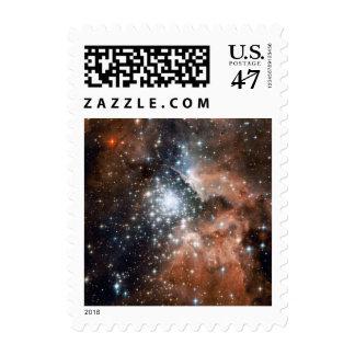 Sparkling Stars Galaxy Stamp