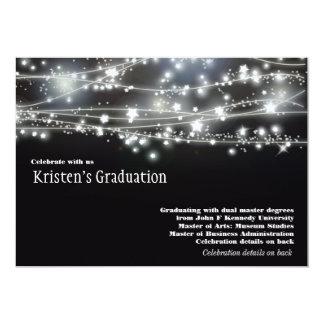 Sparkling Stars Graduation Invitation Invites