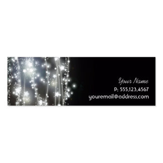 Sparkling Stars Mystical and Magical Profile Card Double-Sided Mini Business Cards (Pack Of 20)