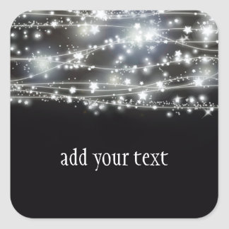 Sparkling Stars Square Sticker