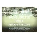 "sparkling string lights BACHELORETTE PARTY INVITES 5"" X 7"" Invitation Card"