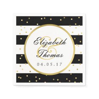 Sparkling Stripes | Elegant Wedding Napkin