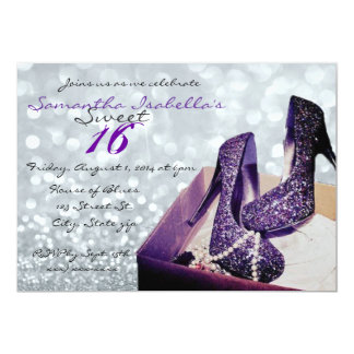Sparkling Sweet 16 5x7 Paper Invitation Card