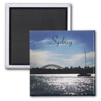 sparkling sydney 2 inch square magnet
