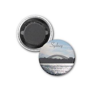 sparkling sydney bridge 1 inch round magnet