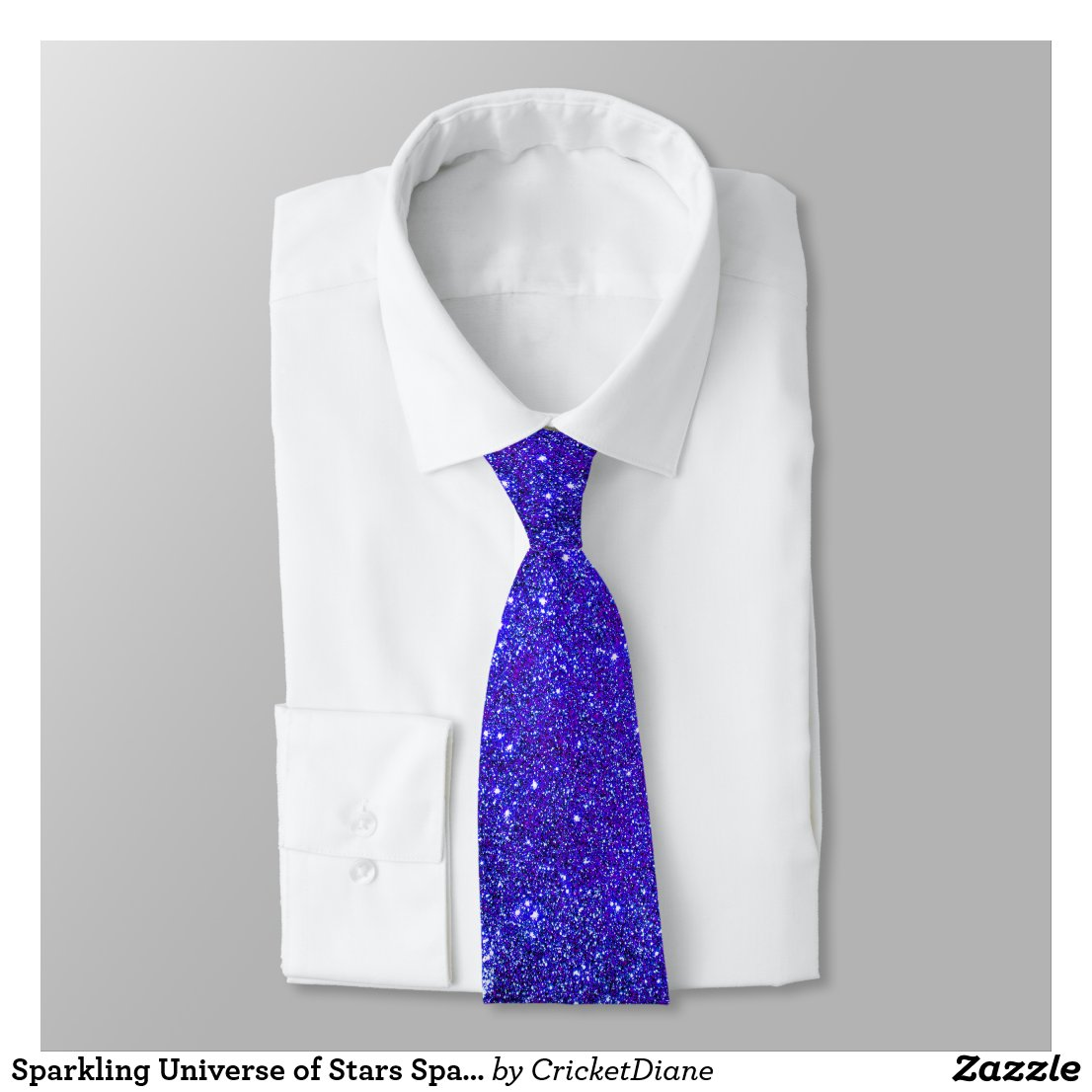 Sparkling Universe of Stars Sparkly Purple Party Tie