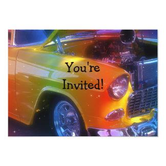 Sparkling Vintage Classic Car Retirement Birthday Card
