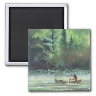 SPARKLING WATERS by SHARON SHARPE 2 Inch Square Magnet