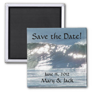 Sparkling Wave Save the Date Magnet