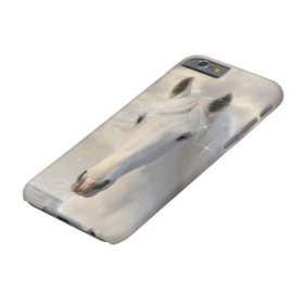 Sparkling White Horse Barely There iPhone 6 Case