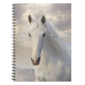Sparkling White Horse Notebook