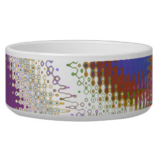 Sparkling White Jewels -  Silver Wave Pattern Bowl