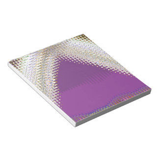 Sparkling White Jewels -  Silver Wave Pattern Notepads