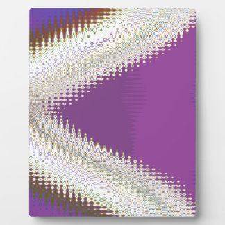 Sparkling White Jewels -  Silver Wave Pattern Plaque
