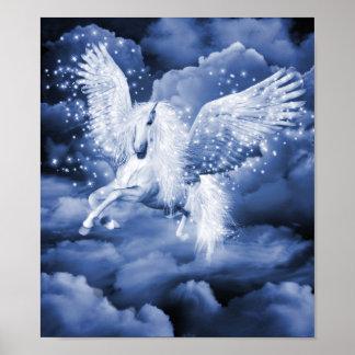 Sparkling White Pegasus Poster