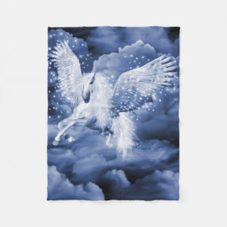Sparkling White Pegasus Small Fleece Blanket