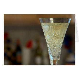 Sparkling White Wine Greeting Card