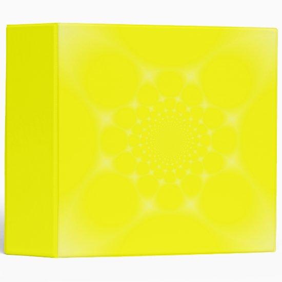Sparkling Yellow 3 Ring Binder