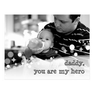 sparkling you are my hero postcard