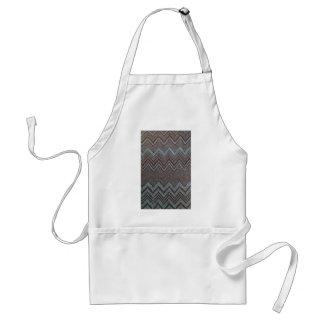 Sparkling zig zag design adult apron