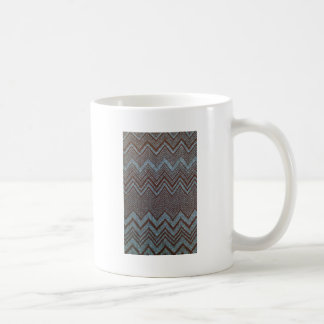 Sparkling zig zag design classic white coffee mug