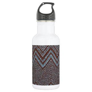 Sparkling zig zag design 18oz water bottle