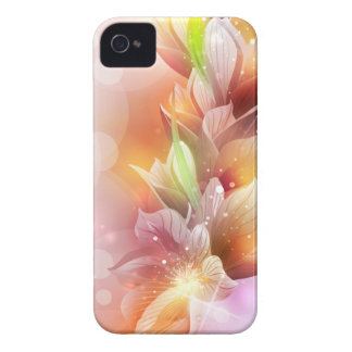 Sparkly Abstract Floral iPhone 4 Case-Mate Case