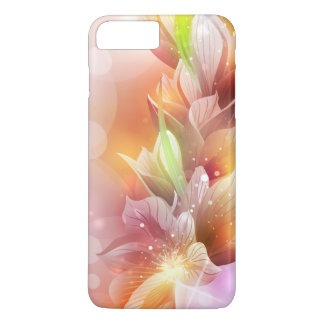 Sparkly Abstract Gold Floral iPhone 7 Plus Case