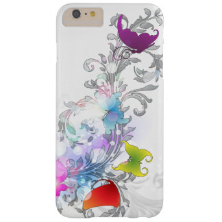 Sparkly Abstract Swirls and Butterflies Barely There iPhone 6 Plus Case
