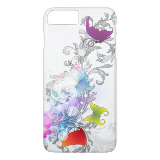 Sparkly Abstract Swirls and Butterflies iPhone 7 Plus Case