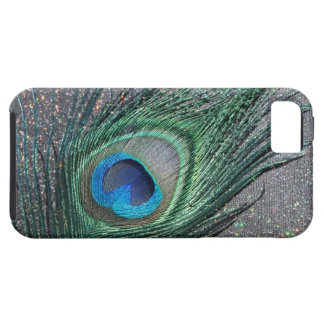 Sparkly Black Peacock Feather Still Life iPhone 5 Cases