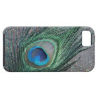 Sparkly Black Peacock Feather Still Life iPhone SE/5/5s Case