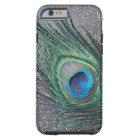 Sparkly Black Peacock Feather Still Life Tough iPhone 6 Case