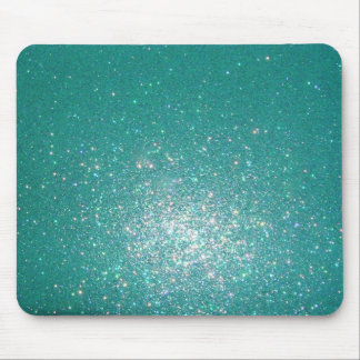 Sparkly blue mouse pad