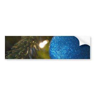 Sparkly Blue Ornament Bumper Sticker