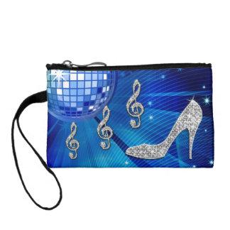 Sparkly Blue/silver Music Note & Stiletto Heel Coin Wallet