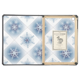 Sparkly Blue Snowflakes iPad Air Cases
