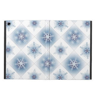 Sparkly Blue Snowflakes Case For iPad Air