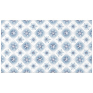 Sparkly Blue Snowflakes Tablecloth