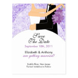 Sparkly Bride Groom Save The Date POSTCARD!