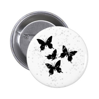 Sparkly butterfly button