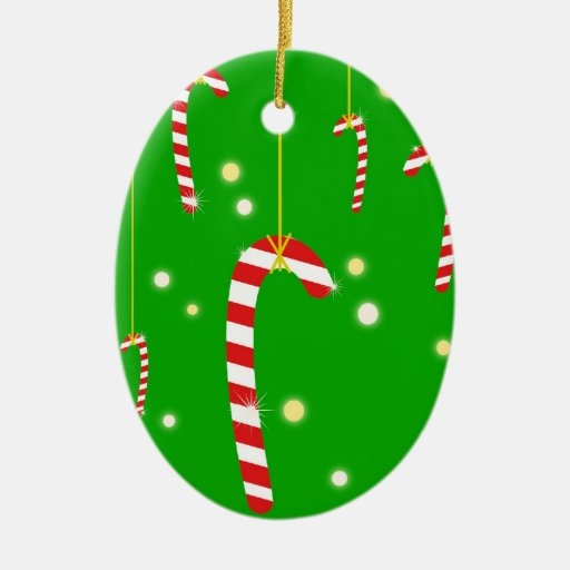Sparkly Candy Canes Ornament