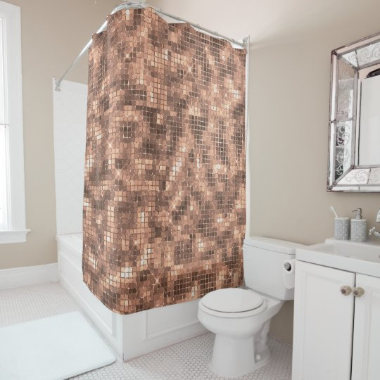 Sparkly Champagne Gold Luxury Sparkle Girly Shower Curtain