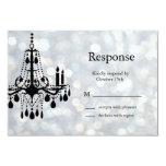 Sparkly Chandelier RSVP Card