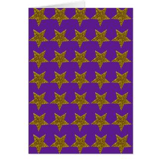 Sparkly Christmas golden stars Card