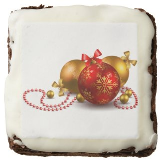 Sparkly Christmas ornaments brownies