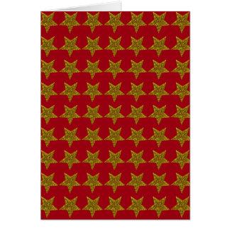 Sparkly Christmas sparkly stars Card