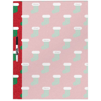 Sparkly Christmas Stockings Dry Erase Board